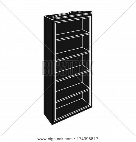 The little bookcase.Home library.books to read.Bedroom furniture single icon in black style vector symbol stock web illustration.