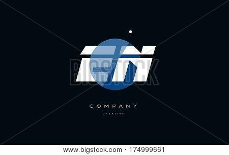 En E N  Blue White Circle Big Font Alphabet Company Letter Logo