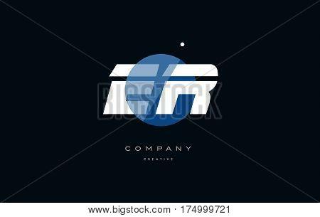 Er E R  Blue White Circle Big Font Alphabet Company Letter Logo