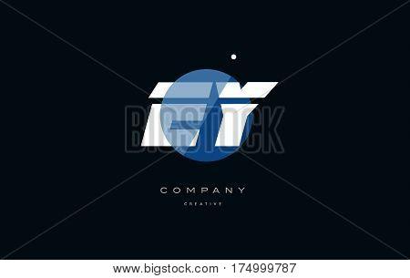 Ey E Y  Blue White Circle Big Font Alphabet Company Letter Logo