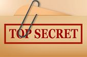 Top secret folder file with slight grunge. Vector. poster