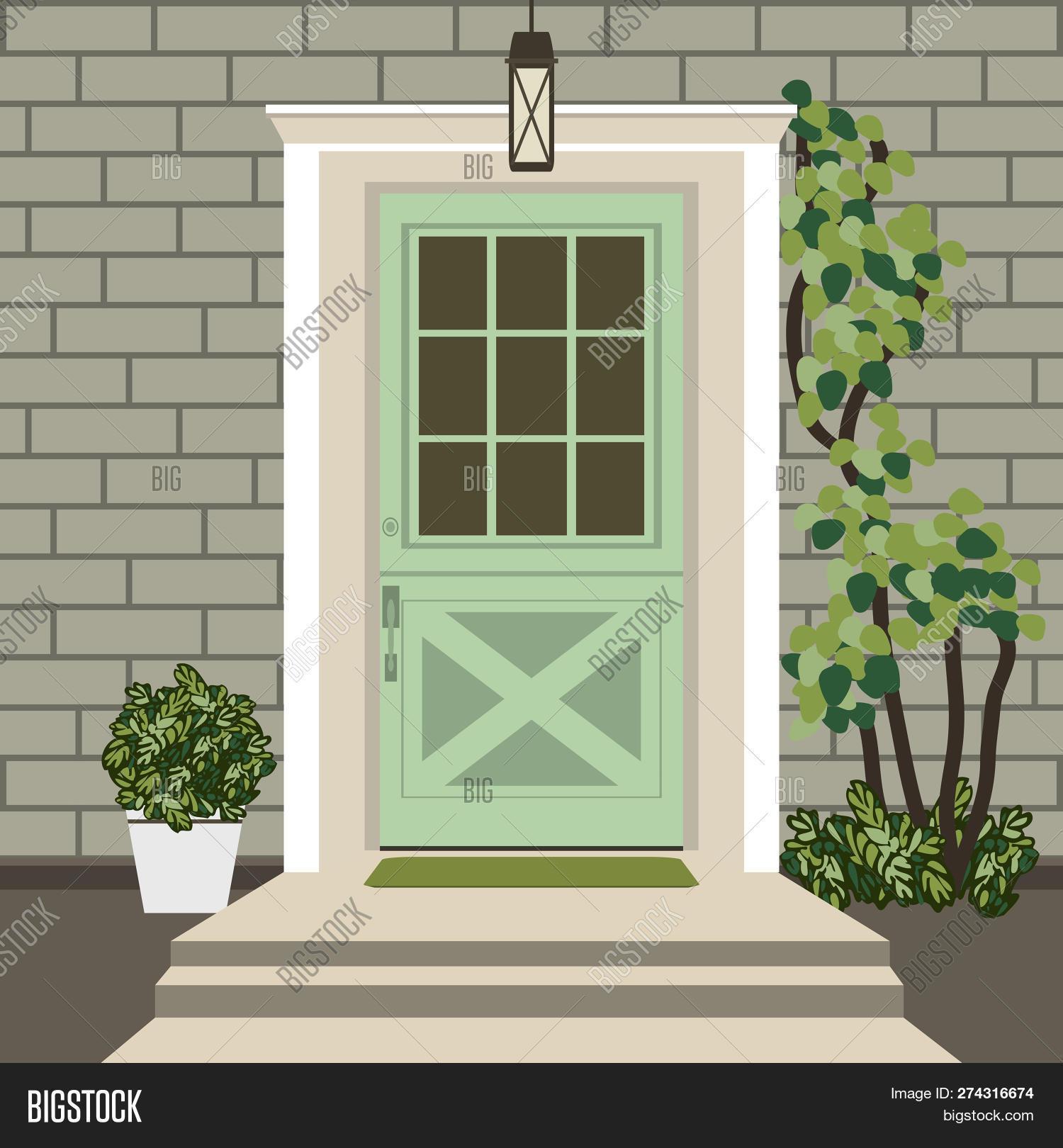House Door Front Vector Photo Free