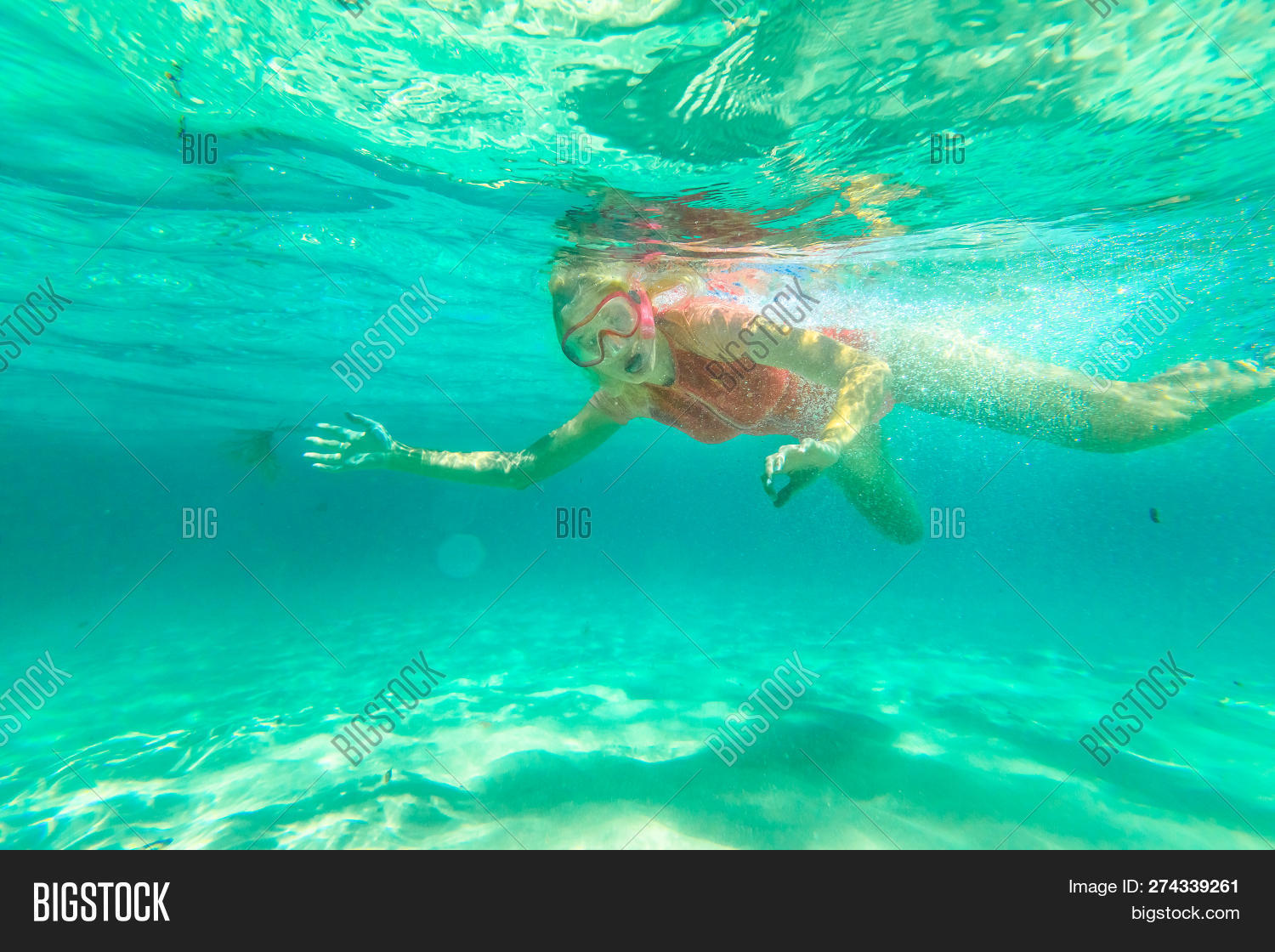 Young Woman Snorkeling Image & Photo (Free Trial) | Bigstock