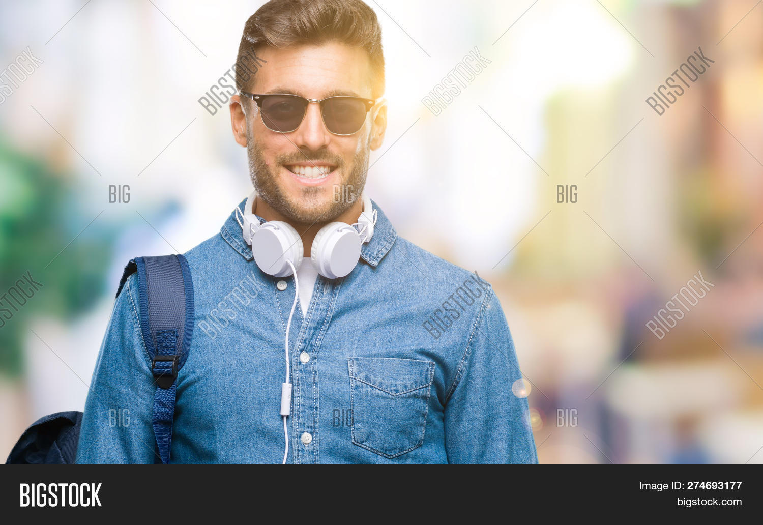 Young Handsome Tourist Image Photo Free Trial Bigstock