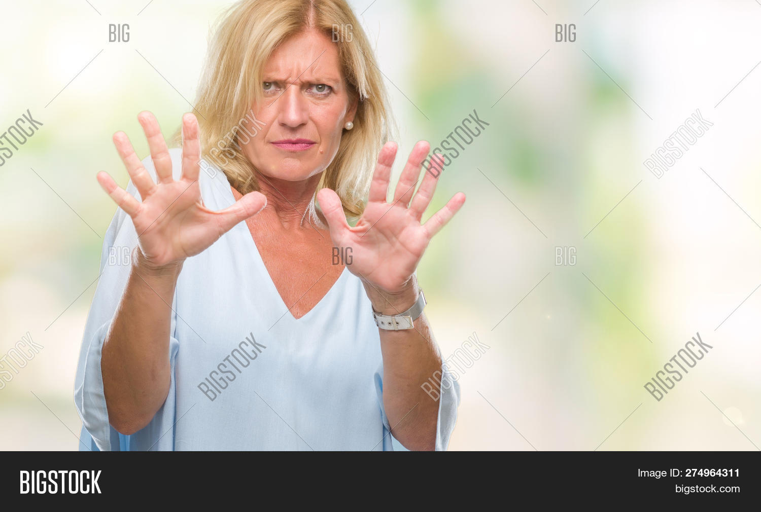 Middle Age Blonde Image Photo Free Trial Bigstock