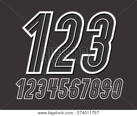 Vector, Set, Collection, Design, Element, Isolated, 1, 2, 3, 4, 5, 6, 7, 8, 9, 0, Number, Numeric, U