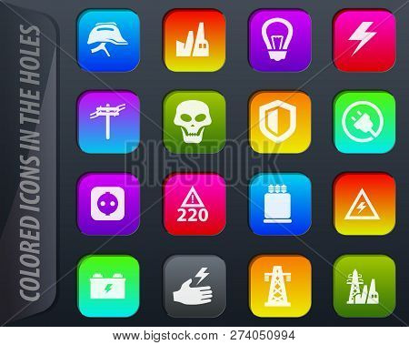 High Voltage Colored Icons In The Holes Easily Adapt To Any Background