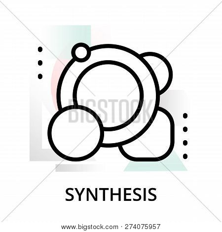 Synthesis Concept Icon On Abstract Background From Science Icons Set, For Graphic And Web Design, Mo