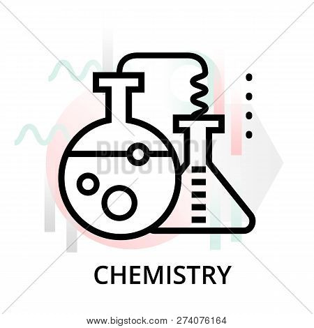 Chemistry Concept Icon On Abstract Background From Science Icons Set, For Graphic And Web Design, Mo