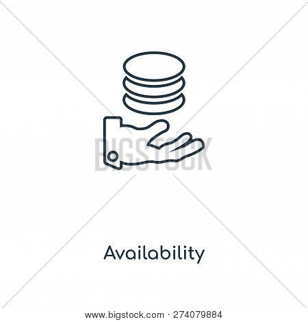 Availability Icon In Trendy Design Style. Availability Icon Isolated On White Background. Availabili