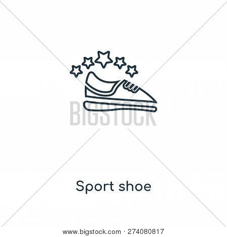 Sport Shoe Icon In Trendy Design Style. Sport Shoe Icon Isolated On White Background. Sport Shoe Vec