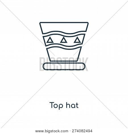 bb92271a6b837 top hat icon in trendy design style. top hat icon isolated on white  background. top hat vector icon simple and modern flat symbol for web site