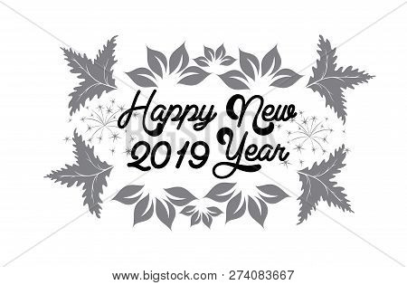 2019 On White Background, 2019 New Year, 3d Illustration, Happy New Year 2019,numeral 2019, New Year