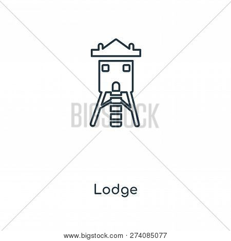 Lodge Icon In Trendy Design Style. Lodge Icon Isolated On White Background. Lodge Vector Icon Simple
