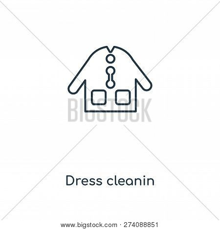 Dress Cleanin Icon In Trendy Design Style. Dress Cleanin Icon Isolated On White Background. Dress Cl