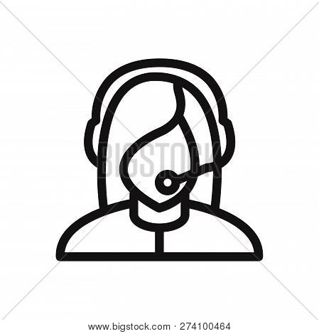 Customer Support Icon Isolated On White Background. Customer Support Icon In Trendy Design Style. Cu