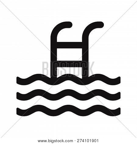 Swimming Pool Icon Isolated On White Background. Swimming Pool Icon In Trendy Design Style. Swimming