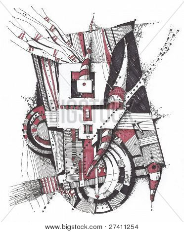 Abstract geometrical drawing