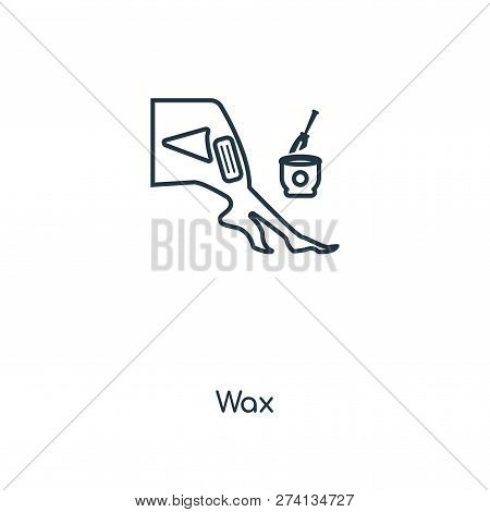 Wax Icon In Trendy Design Style. Wax Icon Isolated On White Background. Wax Vector Icon Simple And M