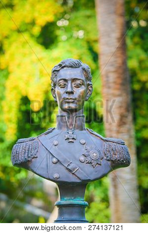 Nice, France - November 13, 2018: Statue Of Nicholas Alexandrovich, Tsarevich Of Russia, At The Russ