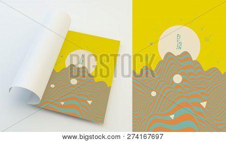 Landscape Background. Terrain. Vector Illustration For Design.