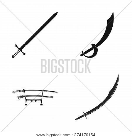 Vector Design Of Sword And Blade Icon. Collection Of Sword And Game  Stock Symbol For Web.