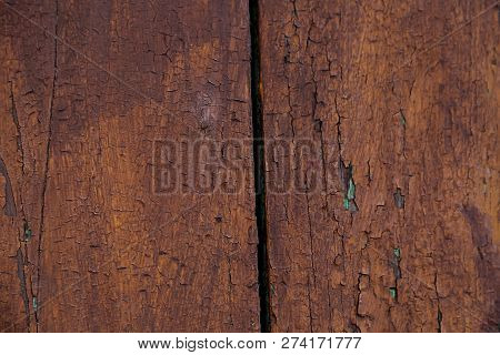 Vertical Surface Of The Old Brown Wood Texture