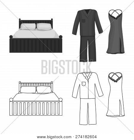 Isolated Object Of Dreams And Night Symbol. Collection Of Dreams And Bedroom Stock Vector Illustrati