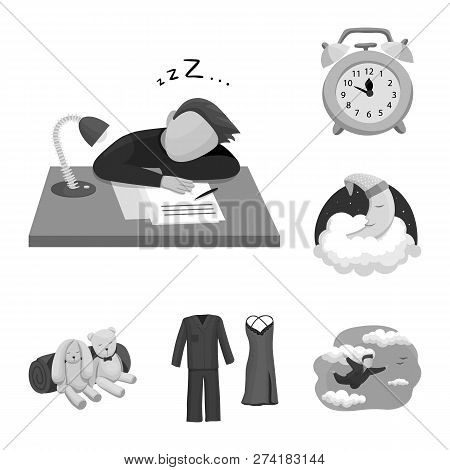 Vector Design Of Dreams And Night Logo. Set Of Dreams And Bedroom Vector Icon For Stock.