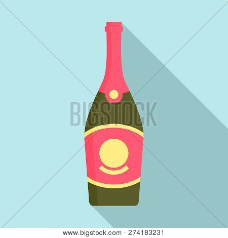 Cabernet Champagne Icon. Flat Illustration Of Cabernet Champagne Vector Icon For Web Design
