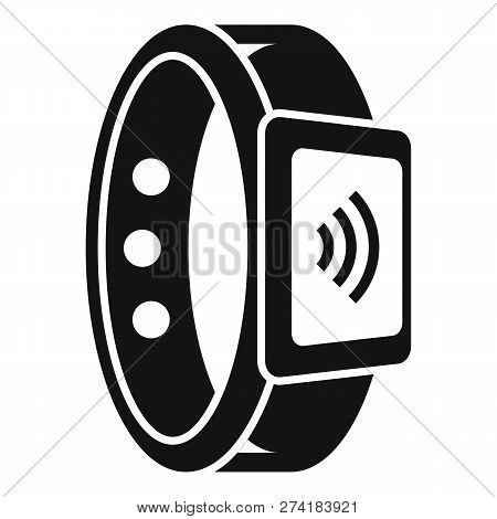 Wireless Smartwatch Pay Icon. Simple Illustration Of Wireless Smartwatch Pay Vector Icon For Web Des
