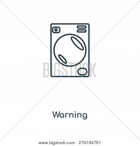 Warning Icon In Trendy Design Style. Warning Icon Isolated On White Background. Warning Vector Icon