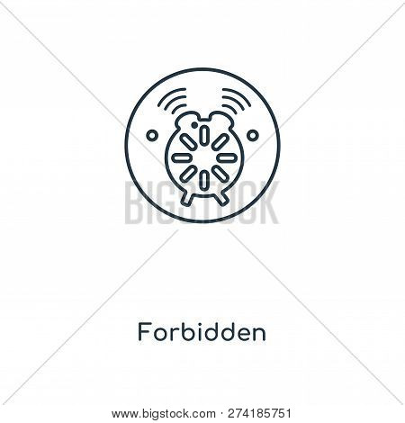 Forbidden Icon In Trendy Design Style. Forbidden Icon Isolated On White Background. Forbidden Vector