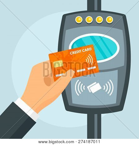 Credit Card Nfc Bus Vector & Photo (Free Trial)   Bigstock