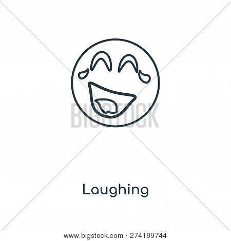 Laughing Icon In Trendy Design Style. Laughing Icon Isolated On White Background. Laughing Vector Ic