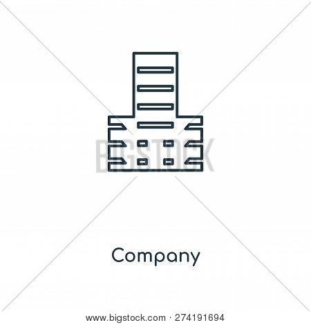 Company Icon In Trendy Design Style. Company Icon Isolated On White Background. Company Vector Icon