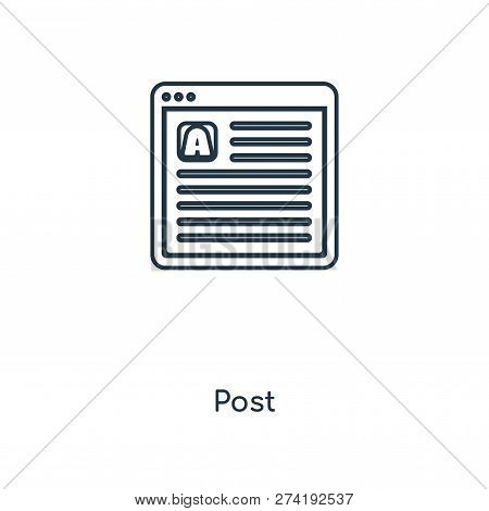 Post Icon In Trendy Design Style. Post Icon Isolated On White Background. Post Vector Icon Simple An