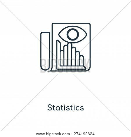 Statistics Icon In Trendy Design Style. Statistics Icon Isolated On White Background. Statistics Vec