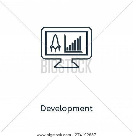Development Icon In Trendy Design Style. Development Icon Isolated On White Background. Development