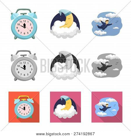 Vector Design Of Dreams And Night Symbol. Collection Of Dreams And Bedroom Stock Vector Illustration