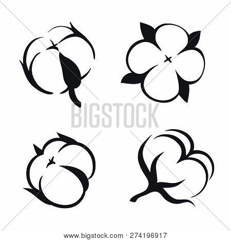 Clipart Icons With Cotton Image Vector Illustration