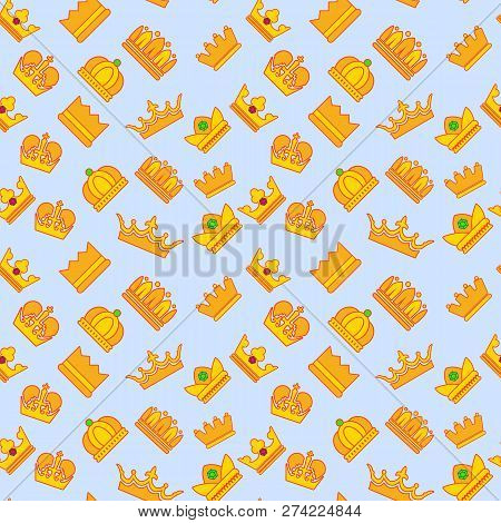 Regal Pattern Seamless. Cartoon Of Regal Vector Pattern Seamless For Web, Poster And Wrapping Paper