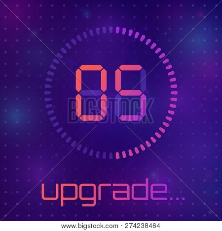 Loading Process Screen. Application Update. System Software Upgrade Concept, Loading Bar. The Concep