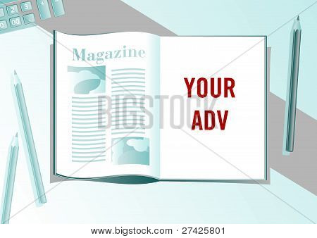 Advertising page presentation format
