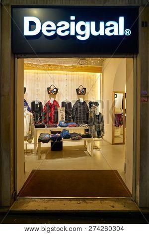 ROME, ITALY - CIRCA NOVEMBER, 2017: entrance to a Desigual store in Rome.