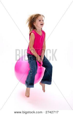 Girl Bouncing