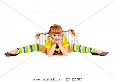 Lovely girl in bright clothing