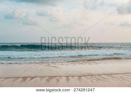 White Sand Beach Blue Sky, Beach Sand