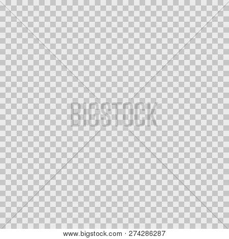 Vector Transparent Checkerboard. Transparent Pattern For Background. Vector Illustration.