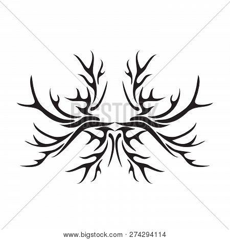 Tattoo Tribal Vector Design. Simple Tattoo Tribal Logo. Tattoo Tribal Design For Men, Woman And Girl